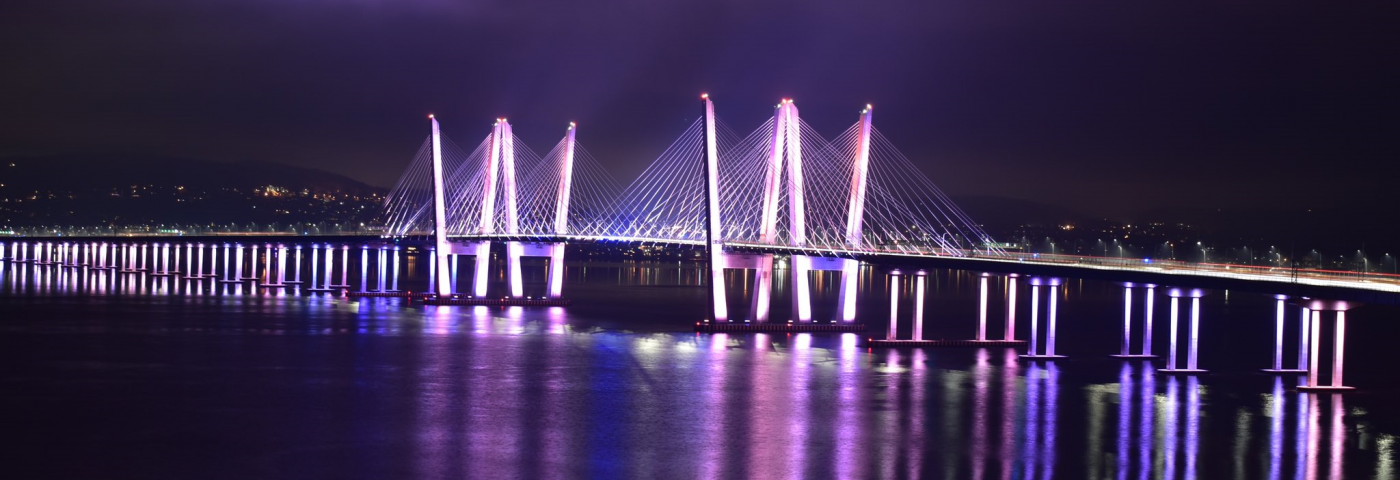 Pink, Green, Blue and Purple Lights Illuminated World for Rare Disease Day